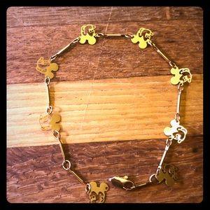 18k Gold Mickey-by-the-yard bracelet